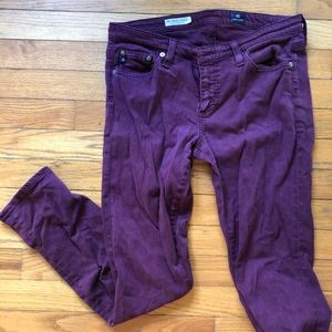 Ag Adriano Goldschmied Jeans - AG Stevie Ankle Jean in plum